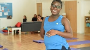 Pregnant mum at exercise class